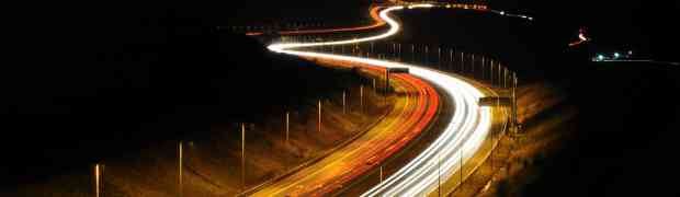 The M62 at night