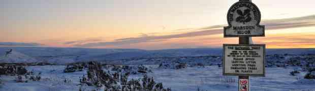 Marsden Moor after a snow fall